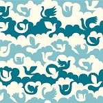 Ipanema Organic DB-04 Blue Birds & Clouds by Birch EOB .94