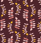 Jenaveve LVW02 Merlot Leaves by Valori Wells for Free Spirit
