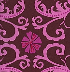 Jenaveve LVW03 Merlot Tribal Floral by Valori Wells for Free Spirit