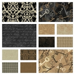 Keys 12 Fat Quarter Set by Whistler Studios for Windham