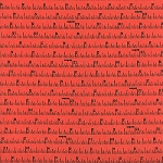 Made With Love Canvas 12704-13 Coral Tape Measure by Moda