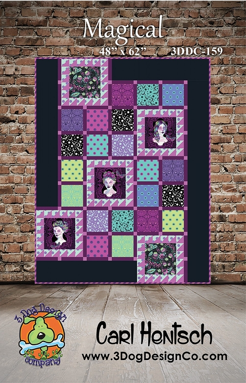 Magical Quilt Pattern by 3 Dog Design Co