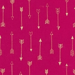 Arrows MC6990 Fuschia Metallic by Michael Miller