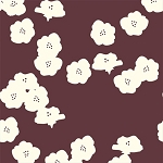 Mod Basics Organic MB2-03 Mahogany Poppies by Birch Fabrics