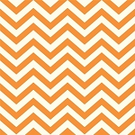 Mod Basics Organic MB2-04 Orange Skinny Chev by Birch Fabrics