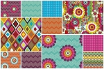 Mosaica 11 Fat Quarter Set by French Bull for Windham