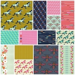 Mustang 14 Fat Quarter Set by Melody Miller for Cotton + Steel