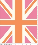 Union Jack DC571 Pink Panel by Riley Blake -EOB