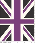 Union Jack DC571 Purple Panel by Riley Blake EOB