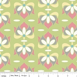 Priscilla C3362 Green Floral by Lila Tueller for Riley Blake EOB