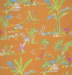 Chinoiserie Chic PWDF194 Orange Paradise by Free Spirit