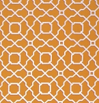Haute Girls PWDF205 Orange Lattice by Dena Fishbein for Free Spirit