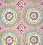 Haute Girls PWDF208 Pink Medallion by Dena Fishbein for Free Spirit