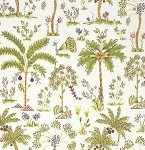 Haute Girls PWDF209 White Palm Trees by Dena Fishbein for Free Spirit