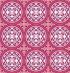 True Colors PWTC010 Deep Pink Scrollwork by Free Spirit