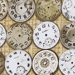 Eclectic Elements PWTH003 Neutral Timepieces by Tim Holtz for Coats