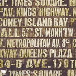 Eclectic Elements PWTH005 Neutral Subway Signs by Tim Holtz for Coats