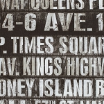 Eclectic Elements PWTH005 Taupe Subway Signs by Tim Holtz for Coats
