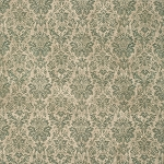 Wallflower PWTH029.8 Teal Faded Damask by Tim Holtz for Coats