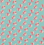 Rosey PWTW065 Teal Cherry Blossom by Tanya Whelan for Free Spirit