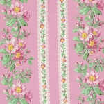 Snapshot  PWVM115 Blush Bloom Border Stripe by Free Spirit EOB