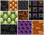 Raven 9 Fat Quarter Set by Rosemarie Lavin for Windham