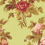 Roses de Noel 17-3 Green Floral by Robyn Pandolph for RJR EOB