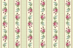 RURU Bouquet RU2200-16C Green Floral Stripe by Quilt Gate