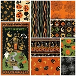 Scaredy Cats 9 Fat Quarter + Panel Set by Wilmington