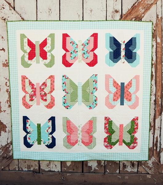 Social Butterfly Quilt Pattern - Lella Boutique : butterfly quilt - Adamdwight.com