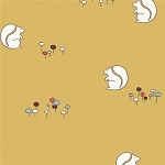 Camp Sur Organic CS-07 Sun Squirrels by Birch Fabrics