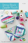 String Block Zipper Pouch Pattern by V & Co