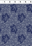 Summerland Y1474-96 Navy Leaves by Clothworks EOB - FQ