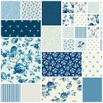 Symphony Rose Blue 13 Fat Quarter Set by Red Rooster