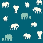 Serengeti Organic SG-10 Teal The Herd by Jay-Cyn for Birch