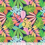 See You Later 101.126.02.1 Navy Tropical Foliage by Blend