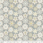 Kringle's Sweet Shop 101.141.05.1 Grey Frosted Snowflakes by Blend