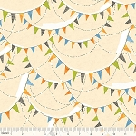 Spooky Town 112.110.06.1 Ivory Halloween Bunting by Blend