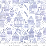 Once Upon a Time 20595-21 White Periwinkle Castle on the Hill by Moda