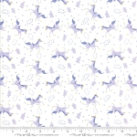 Once Upon a Time 20596-21 White Lavender Mythical Unicorn by Moda