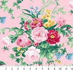 Julia's Garden 21607-21 Pink Large Floral by Northcott