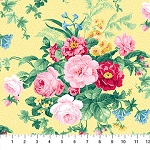 Julia's Garden 21607-51 Yellow Large Floral by Northcott