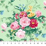 Julia's Garden 21607-71 Green Large Floral by Northcott