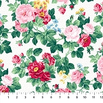 Julia's Garden 21608-10 White Medium Floral by Northcott