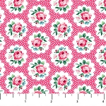 Julia's Garden 21610-21 Pink Floral Medallions by Northcott