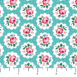 Julia's Garden 21610-41 Blue Floral Medallions by Northcott