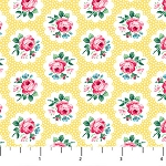Julia's Garden 21610-51 Yellow Floral Medallions by Northcott