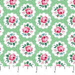 Julia's Garden 21610-71 Green Floral Medallions by Northcott