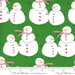 Merry & Bright 22400-12 Evergreen Merry Snowmen by Moda