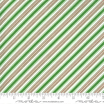 Merry & Bright 22407-13 Evergreen Merry Stripe by Moda